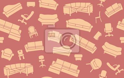 Nahtlose Hintergrund von Sitzmöbeln
