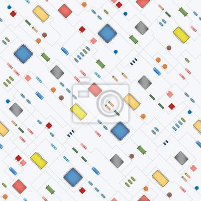 Nahtlose Microchip Hintergrund,