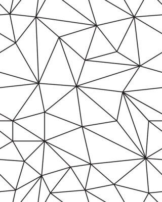 Sticker Nahtlose Muster der geometrischen Mesh-Textur