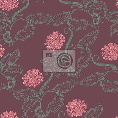 Nahtlose Muster Hintergrund. Floral-Design
