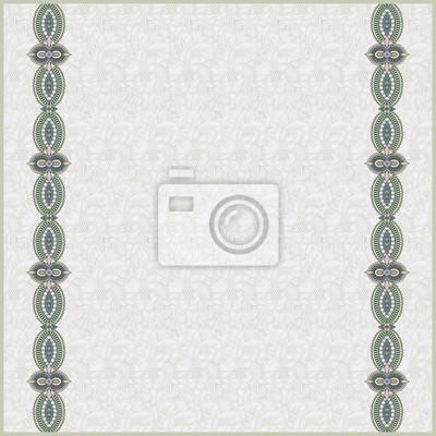 Nahtlose Muster Hintergrund mit ornamentalen Bändern. Papier recor