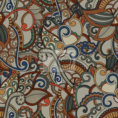 Nahtlose Muster Hintergrund. Paisley Design