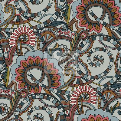 Nahtlose Muster Hintergrund. Paisley Textil