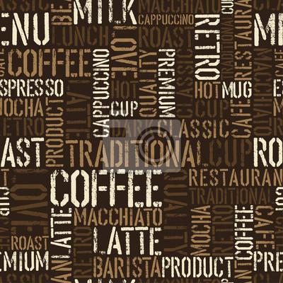 Nahtlose Muster Kaffee-Erlebnis. Vektor, EPS8.