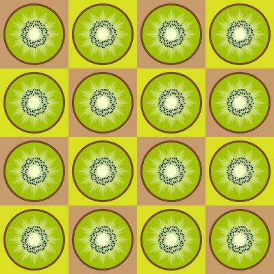 Sticker Nahtlose Muster kiwi