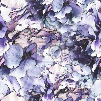 Nahtlose Muster mit abstrakten floralen Form. Textur