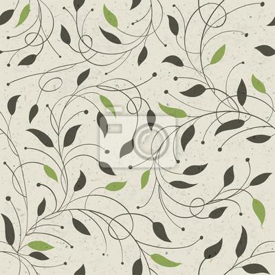 Nahtlose Muster mit Blättern Ökologie. Vektor, EPS10