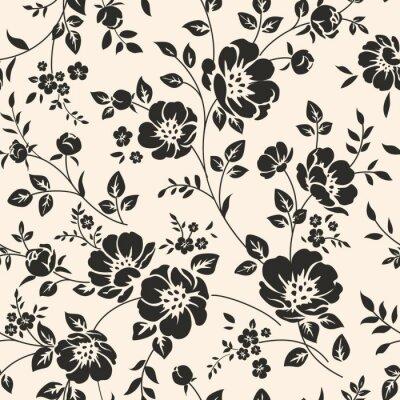 Sticker Nahtlose Muster mit Blumen.