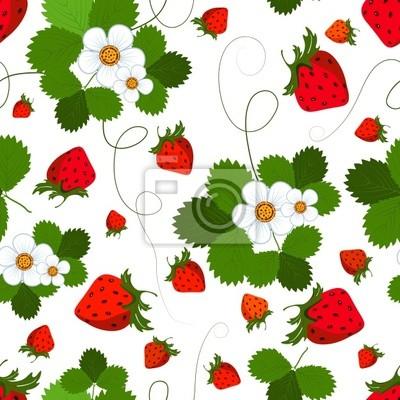 Nahtlose Muster mit einer Erdbeere