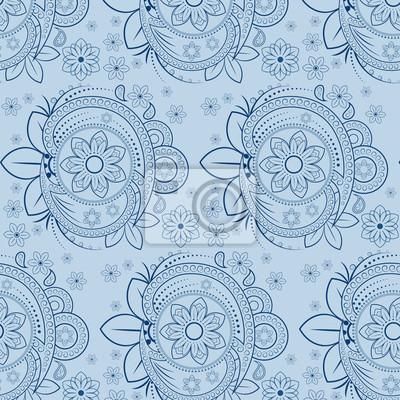 nahtlose Muster mit floralen Element, inklusive Musterfelder.