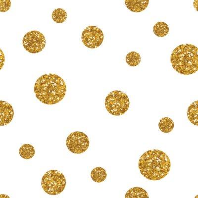 Sticker Nahtlose Muster mit goldenen Glitter Textur.