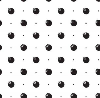 Sticker Nahtlose Muster mit Granatapfel