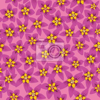 Sticker nahtlose Muster mit rosa Blumen, Hintergrund-, Druck-