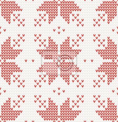Nahtlose Muster mit Rote Sterne im norwegischen Stil