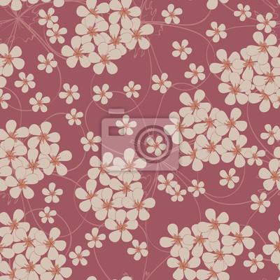 Nahtlose Muster von kleinen Blüten. Floral textile