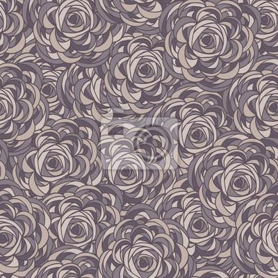 Nahtlose Muster von Roses. Floral background