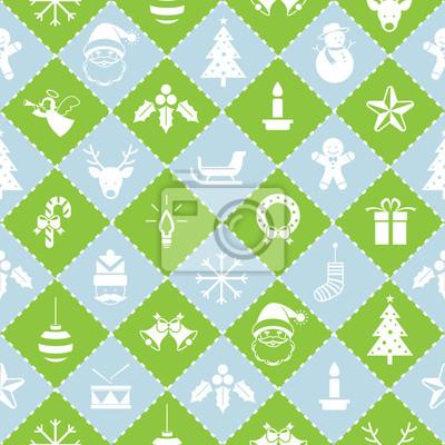 Nahtlose Muster: Weihnachts Objekte