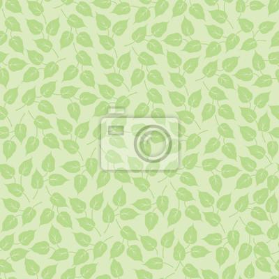 Sticker Nahtlose Pastell Hintergrund der Blätter einer Pflanze