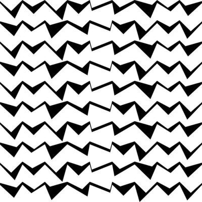 Sticker Nahtlose schwarz-weiß dekorativen Vektor-Hintergrund mit abstrakten geometrischen Muster