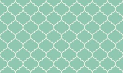 Sticker Nahtlose türkis breite marokkanische Muster Vektor
