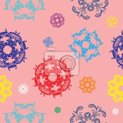 Nahtlose Vektor-Muster mit bunten Dekor