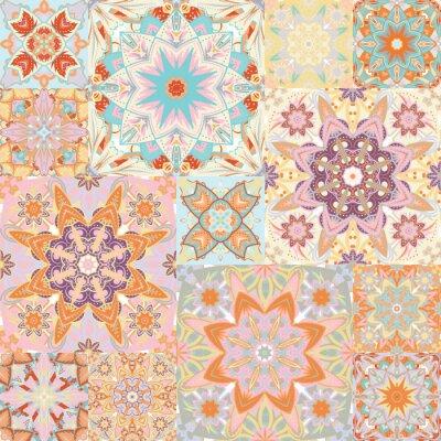 Sticker Nahtlose Vektor-Muster. Patchwork. Im arabischen Stil. Abbildung.