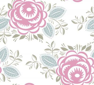 Sticker Nahtlose Vintage Rosen Muster