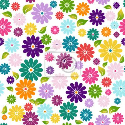 Nahtlose weißen Blumenmuster
