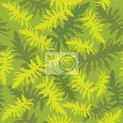 Sticker nahtlosen grünen Hintergrund der Farn Blätter