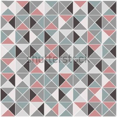 Sticker Nahtloser geometrischer Rautenfarbmusterhintergrund des Rasters