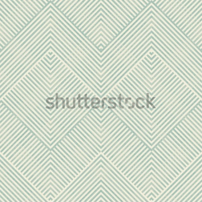 Sticker Nahtloses abstraktes geometrisches Muster im Türkis und in der Beige auf Beschaffenheitshintergrund. Endloses Muster kann für Keramikziegel, Tapete, Linoleum, Gewebe, Webseitenhintergrund benutzt werd