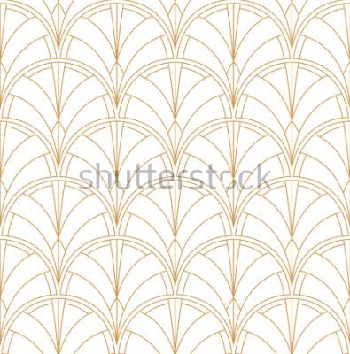 Sticker Nahtloses Art-Deco-Muster. Vintage minimalistischen Hintergrund. Abstrakte Luxusillustration.