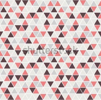 Sticker Nahtloses Dreieckmuster. Vektor Hintergrund. Geometrische abstrakte Textur