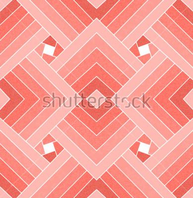 Sticker Nahtloses geometrisches lebendes korallenrotes quadratisches Muster