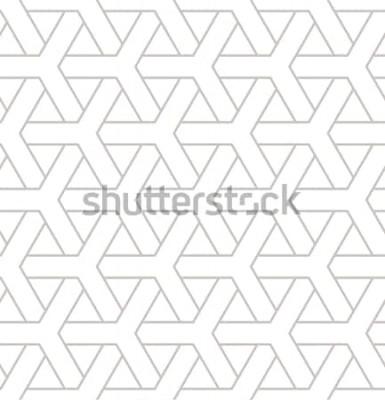 Sticker Nahtloses geometrisches Muster. Geometrischer einfacher Druck mit drei Elementen. Vektor wiederholende Textur. Modernes Hipster-Muster. Minimalistische Hintergrundwiederholung.