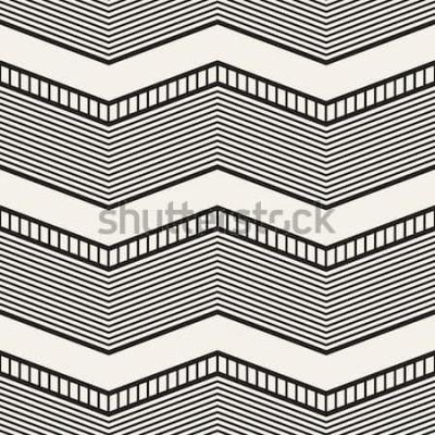 Sticker Nahtloses geometrisches Muster. Zick-Zack-Streifen. Vektorgrafik Textur