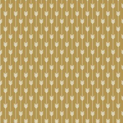 Nahtloses Goldpfeilmuster. Goldener Pfeilhintergrund für das Drucken und Textilmode.