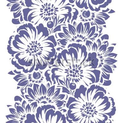 Sticker Nahtloses Muster der abstrakten Eleganz mit Blumenhintergrund