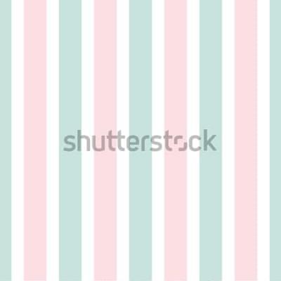 Sticker Nahtloses Muster des geometrischen Streifens der rosa und grünen Farbe. Festliche Illustration. Vertikale Linie Hintergrundbild. Eleganter einwickelnder Hintergrund.