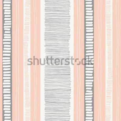 Sticker Nahtloses Muster des von Hand gezeichneten wunderlichen strukturierten organischen Linien- und Streifenvektors. Frisches abstraktes geometrisches. Kritzeleien.