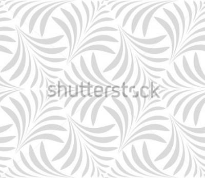 Sticker Nahtloses Muster Floral stilvollen Hintergrund. Graue und weiße Verzierung. Grafisches modernes Muster.
