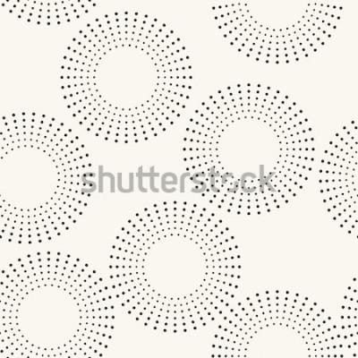 Sticker Nahtloses Muster mit gepunkteten Kreisen. Vektor wiederholende Textur. Stilvoller Hintergrund