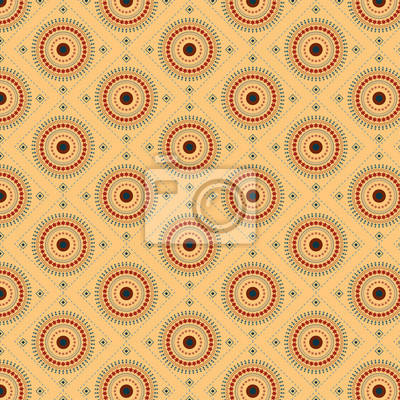 Nahtloses Muster mit Kreisen earthtone und Muster brushs.