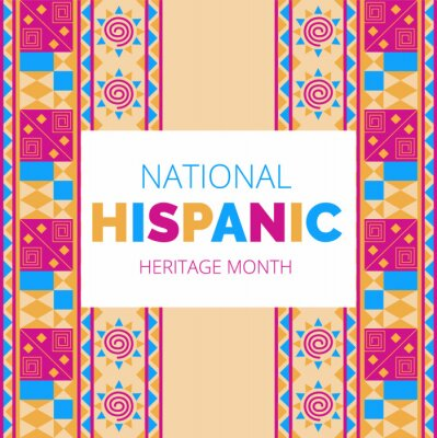 Sticker National Hispanic Heritage Month celebrated from 15 September to 15 October USA.