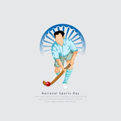 Sticker national sports day India- 29th of august.