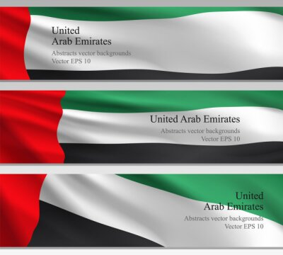 National UAE Vector Banners. Abstract Background Flag United Arab Emirates.