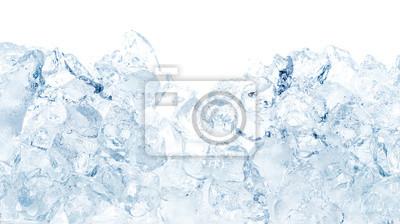 Sticker Natürlicher Eiswürfelhintergrund.