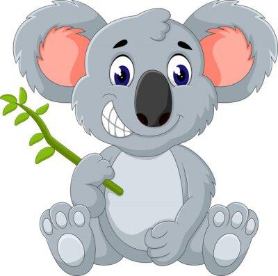 Sticker Nette Koala-Karikatur der Abbildung