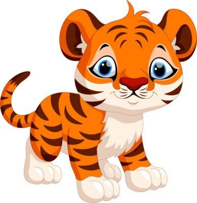 Sticker Nette Tigerkarikatur