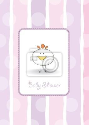 neue Babymitteilungskarte mit Huhn